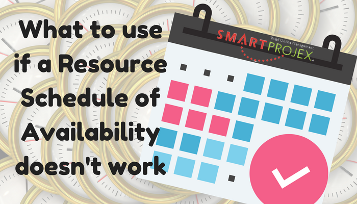 resource schedule of availability
