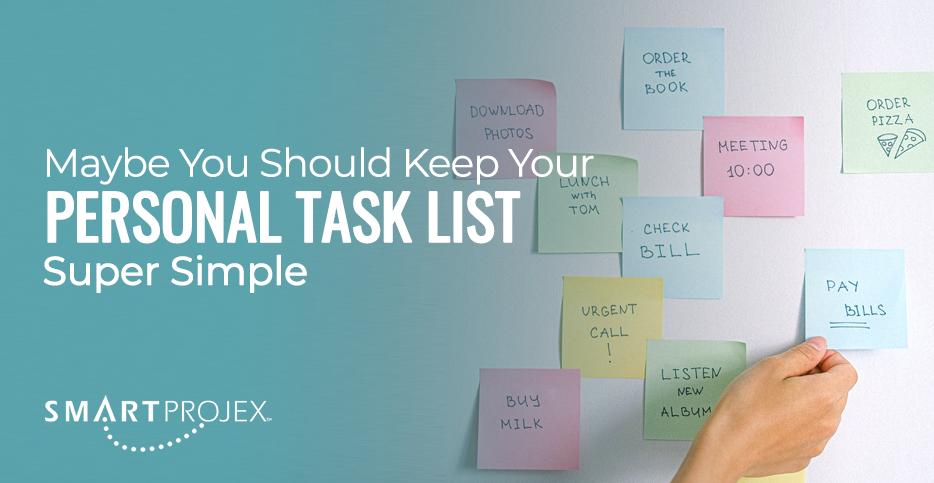 personal task list